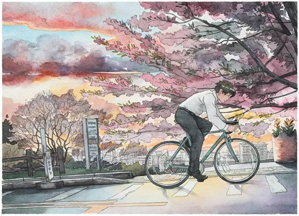手绘| 在《你的名字》中感动千万人的波兰画家,用水彩