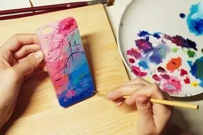 手绘明信片,手机壳,自己做的最特别