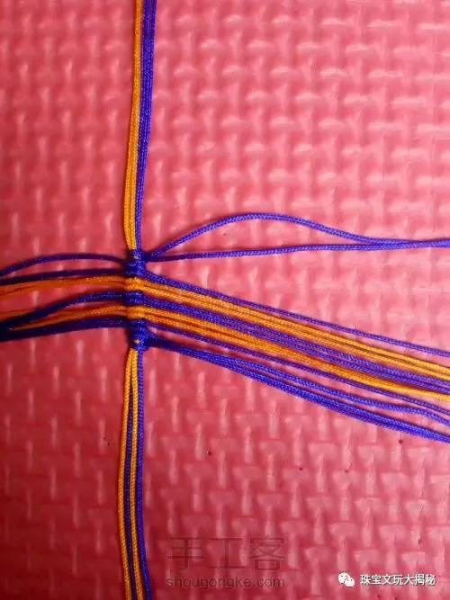 【编织】骚情蝴蝶手链编织教程