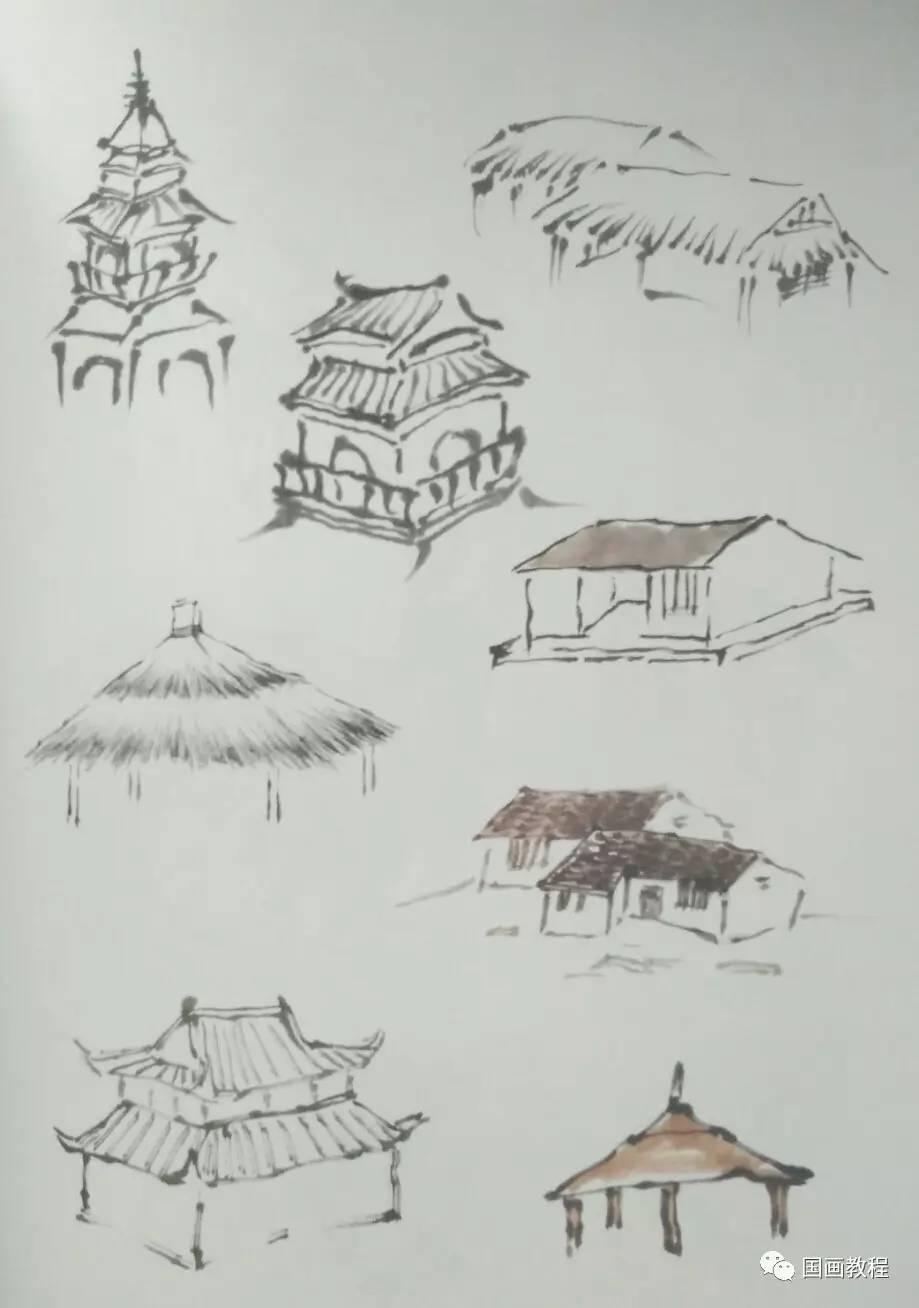【山水教程】点景舟楫人物步骤画法(1)