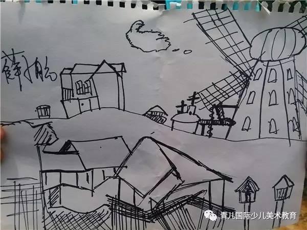 校前区道路手绘效果图