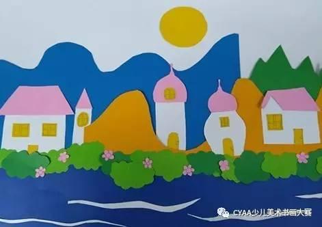 8岁 女 手工贴画 《风景》 指导老师:侯路遥-广州市第四十七中学汇