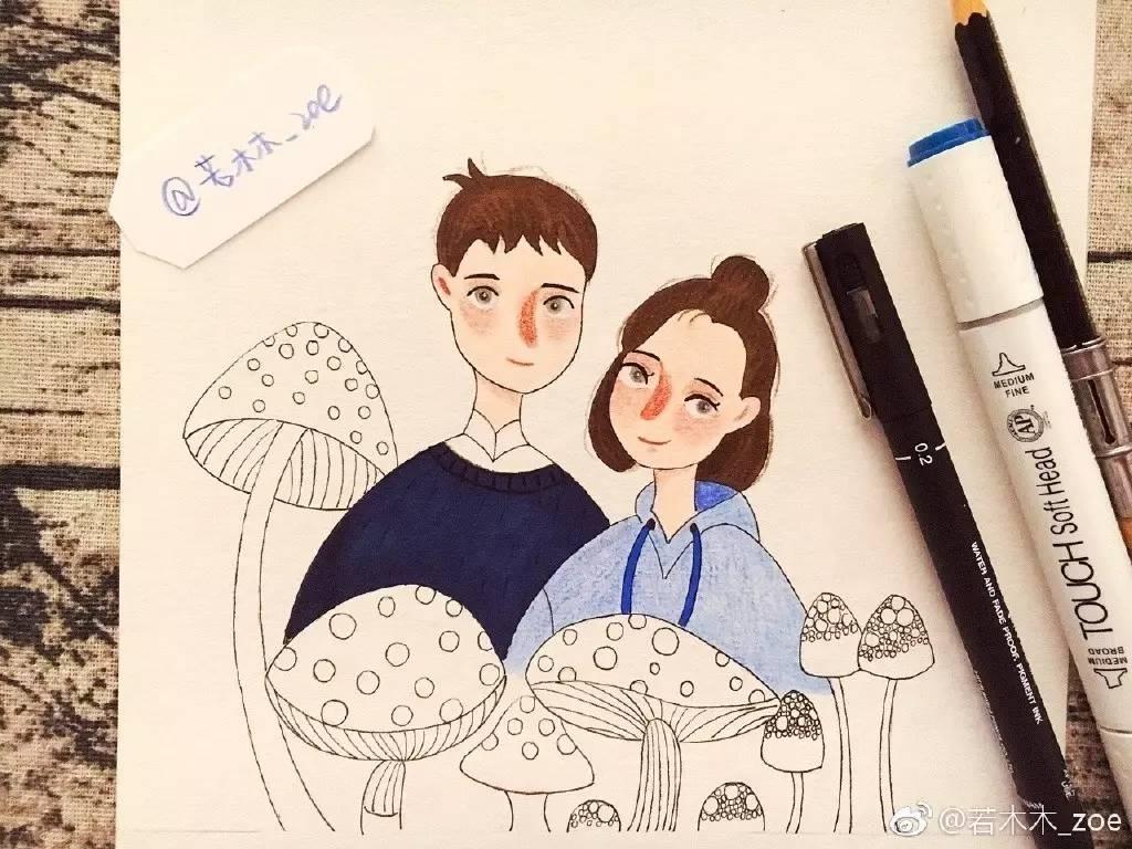 手账简笔画教程 | 简笔画人物小品(若木木_zoe)