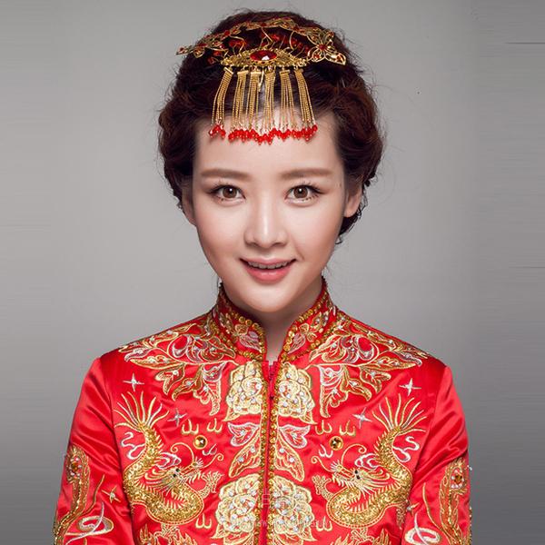 中式婚纱照新娘古装发型 像公主一样出嫁图片