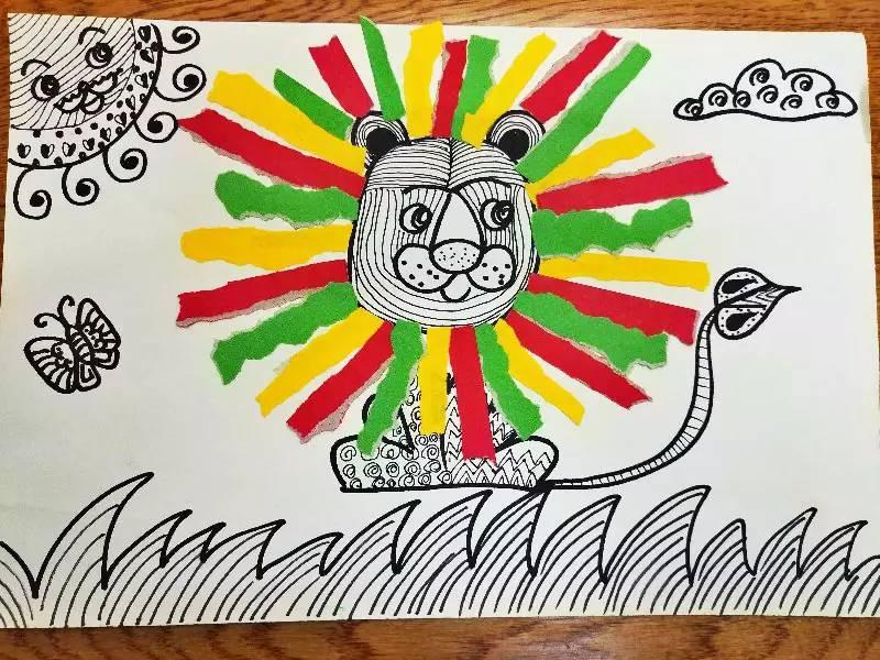 园教师拼贴画_在拼贴画教育活动中,教师可以通过游戏,以及各类教学活动,把绘画和
