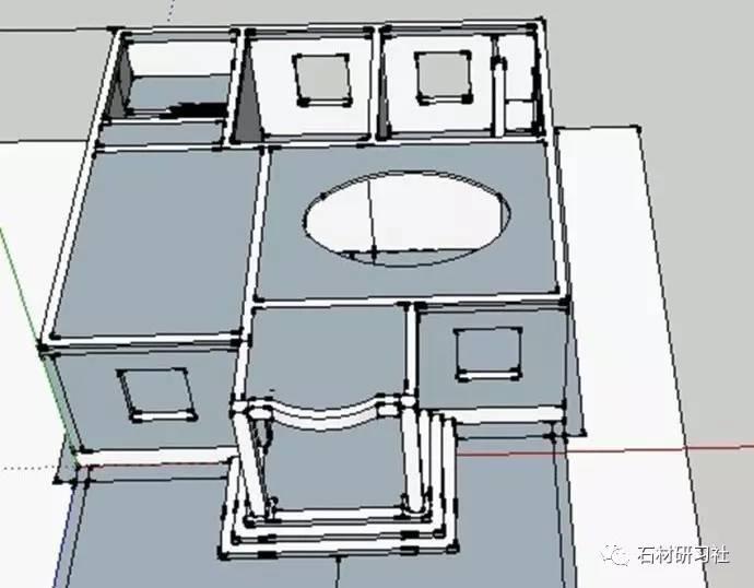 闽南农村自建房设计(天圆地方3d模型)