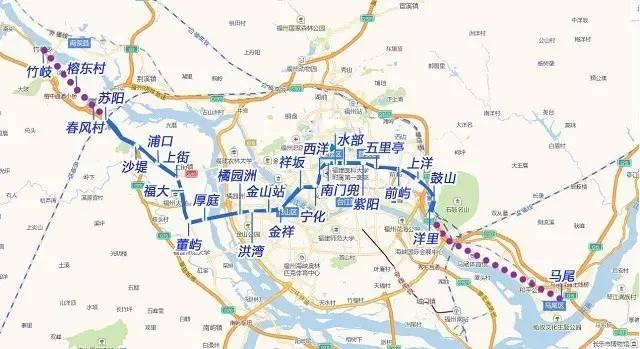 地铁建设大提速 地铁2号线覆盖马尾快安 地铁5号线拟延伸至甘蔗