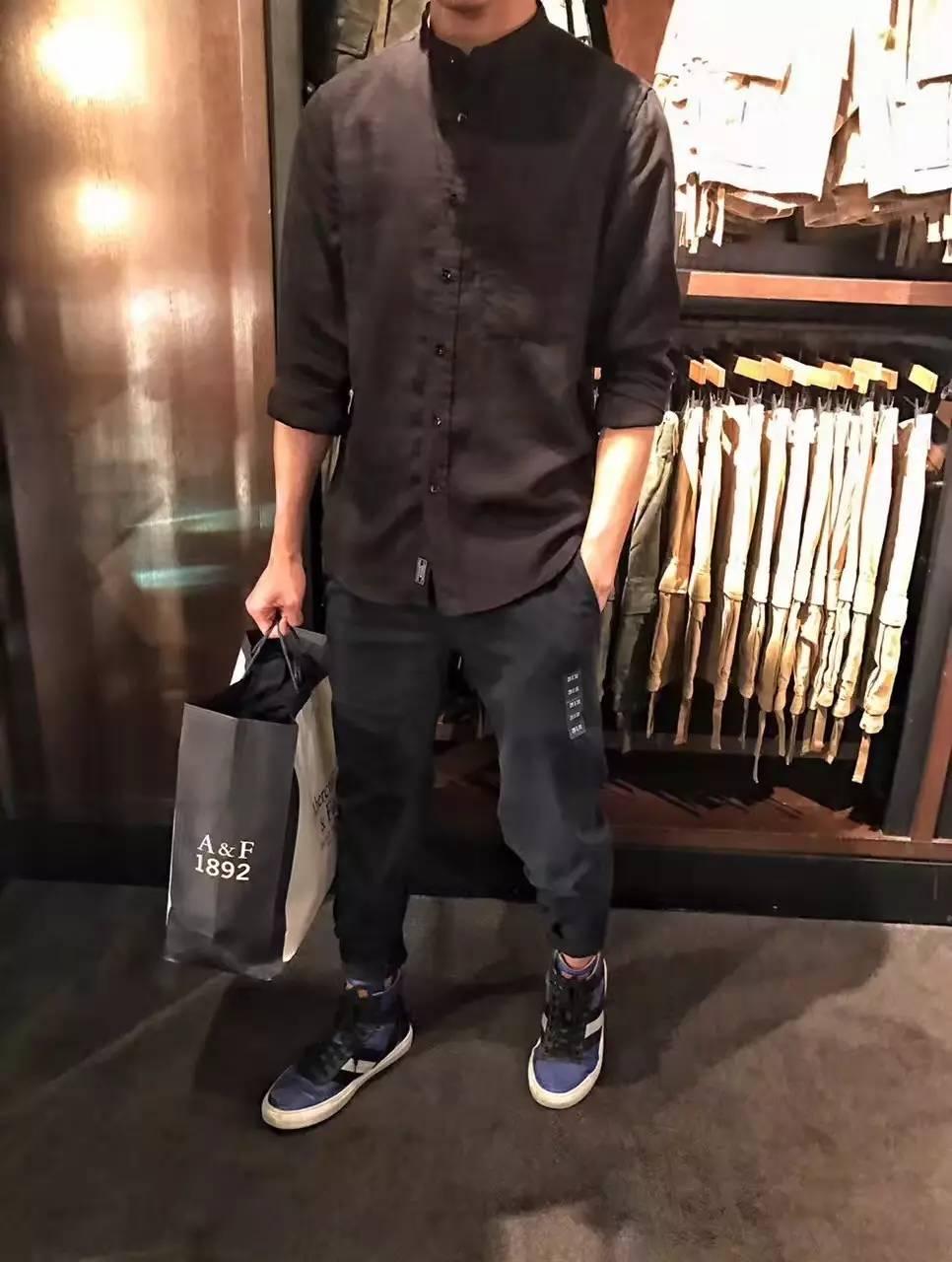 小立领衬衫男短袖亚麻衬衫男士休闲风青年潮流款式... _阿里巴巴