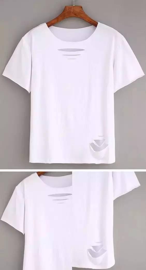白t恤手绘英文主题