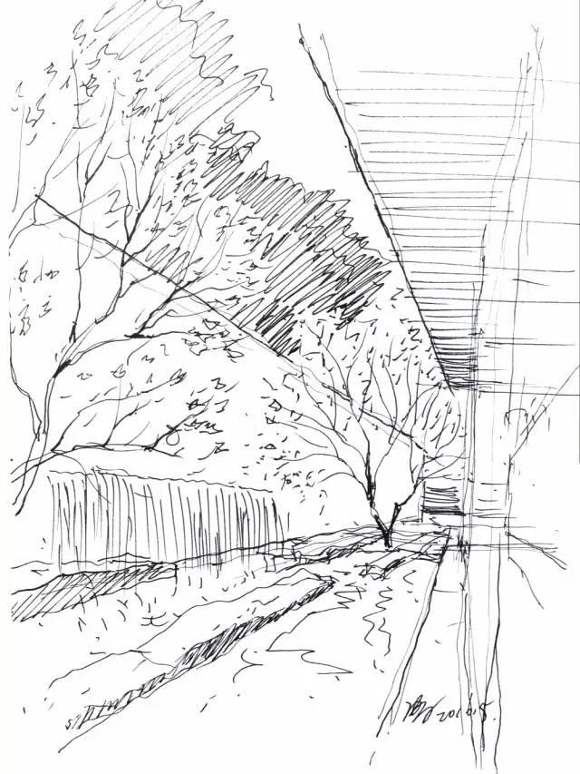 宁波建筑手绘线稿