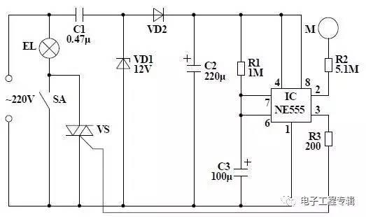 科技 正文     图23 触摸式延时照明灯电路图 在闭合sa时,台灯点亮,不