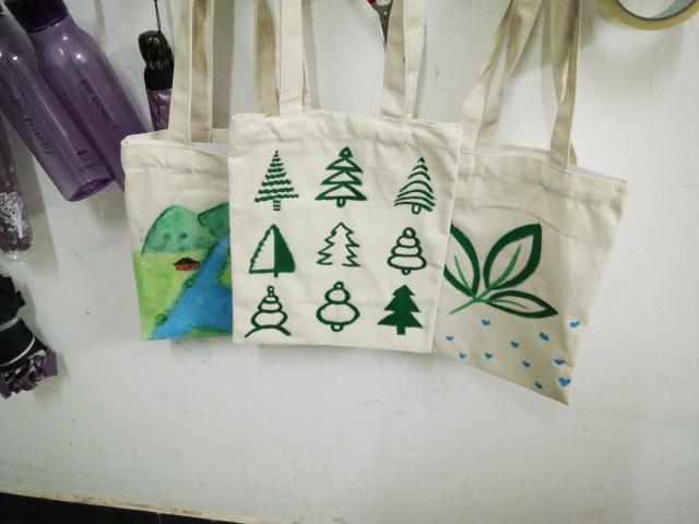 手绘环保袋 绿色传递爱
