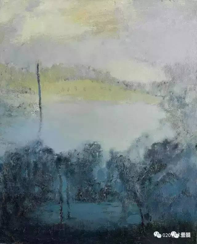 """文祯非的风景油画蕴含着""""绚烂之极归于平淡""""的美感"""