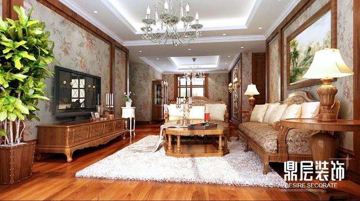 郑州阿卡迪亚160平方三室两厅装修效果图图片