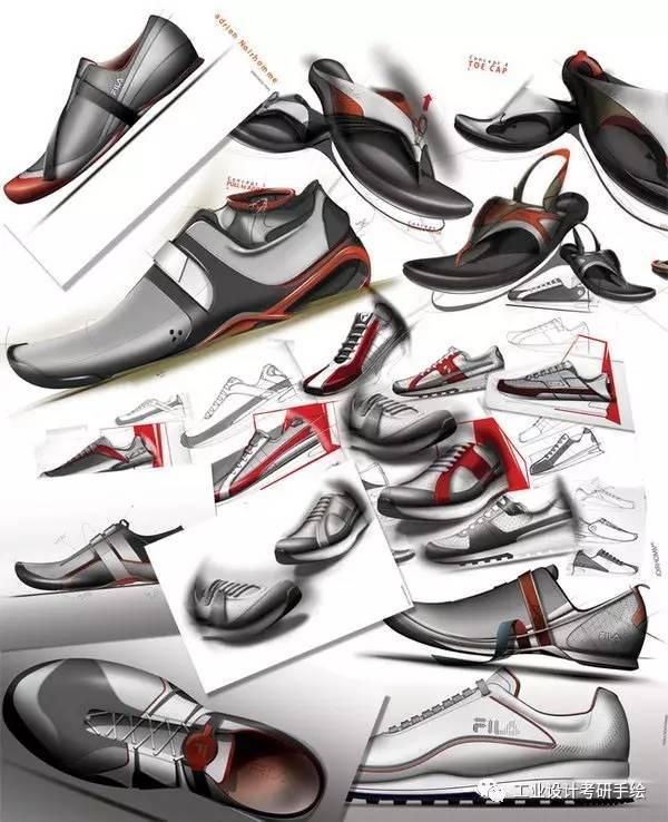 运动鞋设计手绘图欣赏