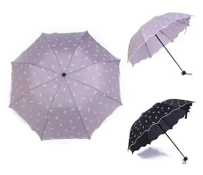 雨伞清新精致图案手绘