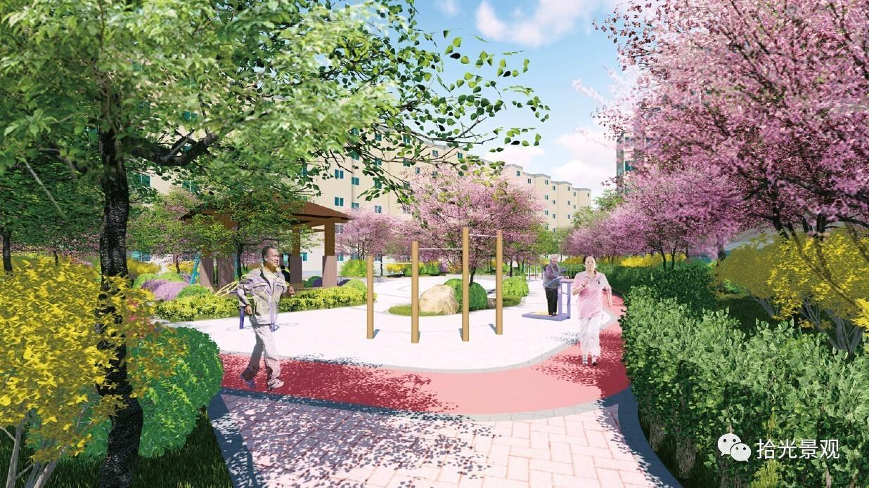 长庆石化报告景观改造绿化方案设计|拾光局部美团ui体验设计小区图片