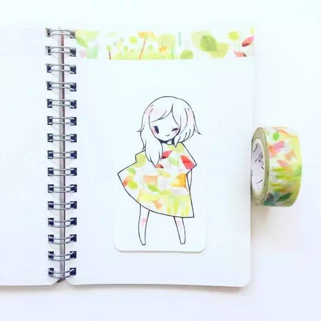 用手绘跟胶带结合的简笔画,你绝对没想到过!