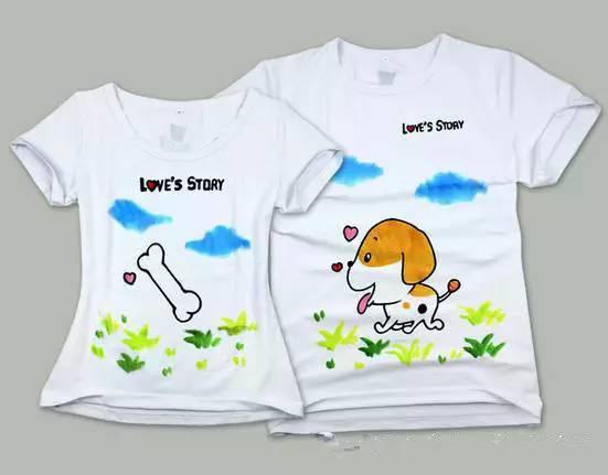 """【百大宝龙店】亲子diy创意t恤,父爱如""""衫""""手绘幸福!"""