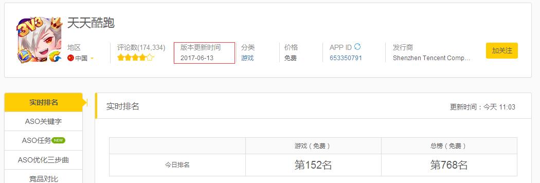 龙榜ASO优化师苹果对怂腾讯?6月13日天天酷跑被短暂下架 第4张