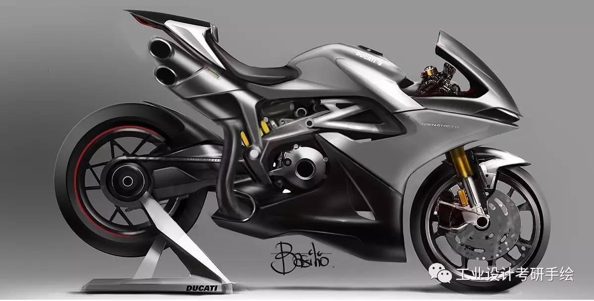 摩托车设计手绘效果图