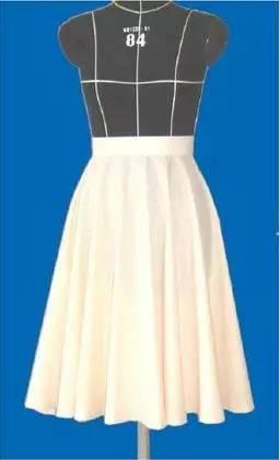 基本直裙与波浪裙的立体裁剪教程图片