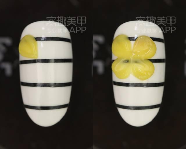 【窝趣美甲视频教程】简单立体黄色雕花款