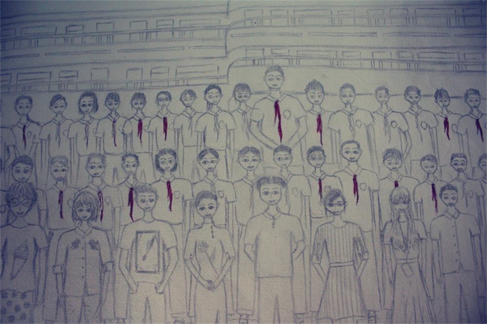 超萌超暖!狮岭学校小学生手绘出班级毕业照