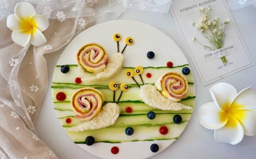 宝宝食谱 蜗牛创意三明治的做法_搜狐美食_搜狐网图片