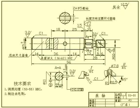 cad机械设计图纸,经典零件尺寸标注,零基础入门图文教程