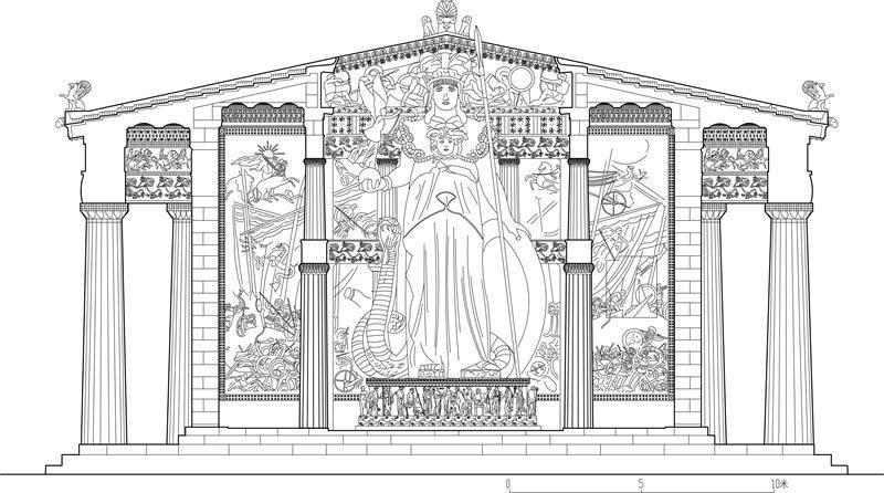 图3古希腊多立克柱式收分