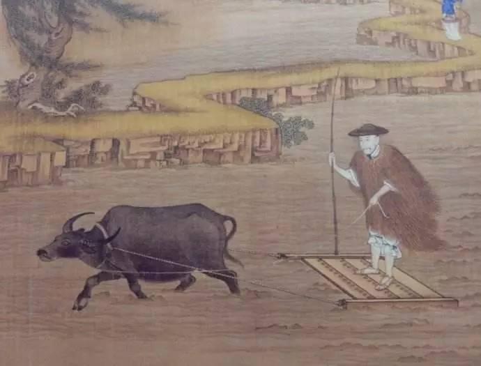 五十年代农耕矢量图