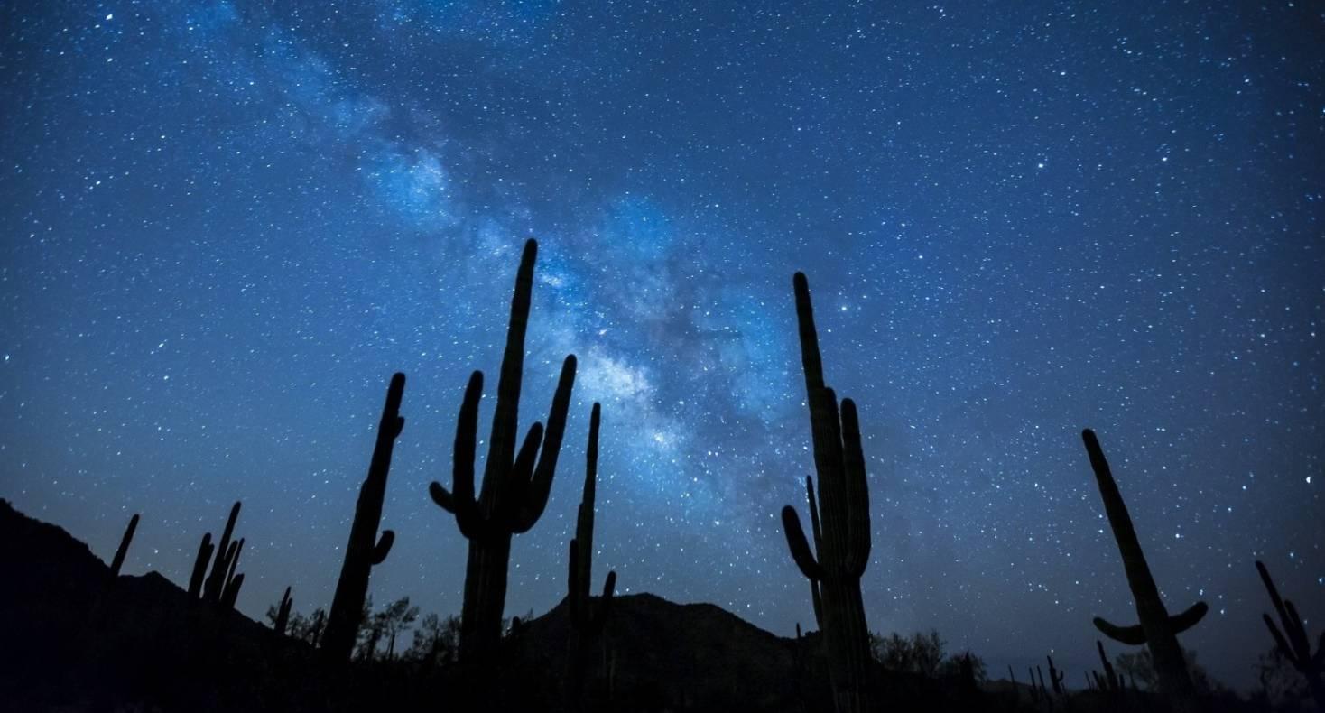 夜空中繁星点点图片 [查看大图]