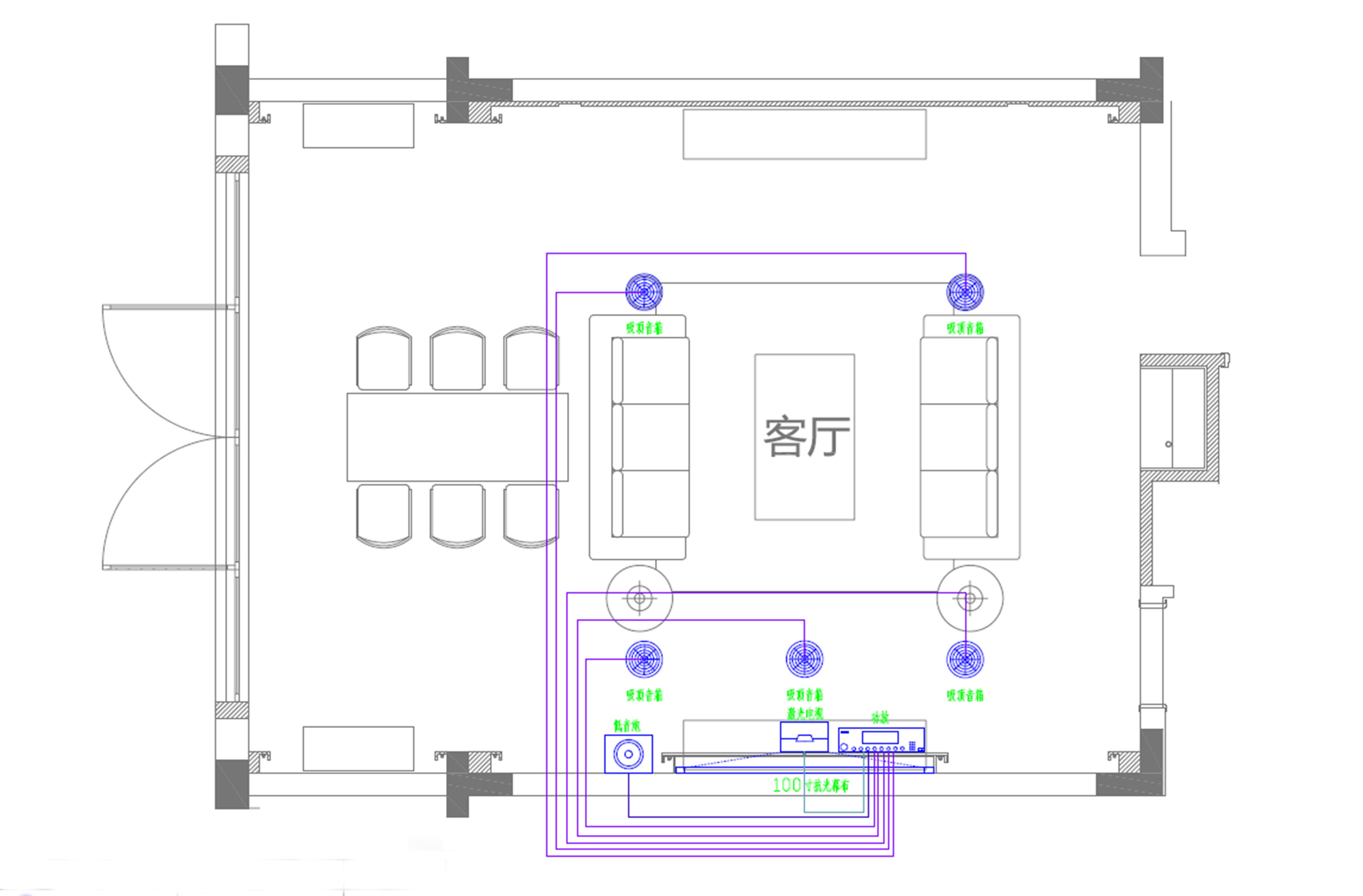 客厅平面图手绘图简易