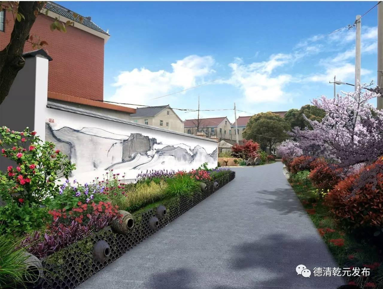 中式景观墙面手绘