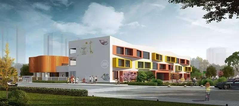 方案设计理念贴近生活,通过幼儿园外观鲜艳的色彩设计和建筑立面很强