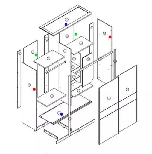 三开门大衣柜内部结构图
