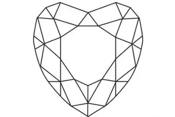 手绘心形宝石画法