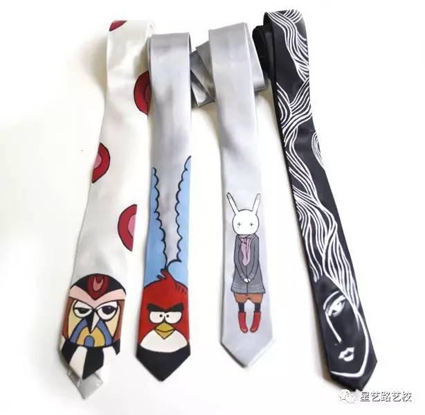 手绘领带!