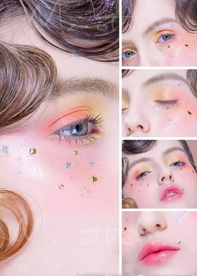不会这些创意妆面!你怎么能说自己是最in的婚礼化妆师图片