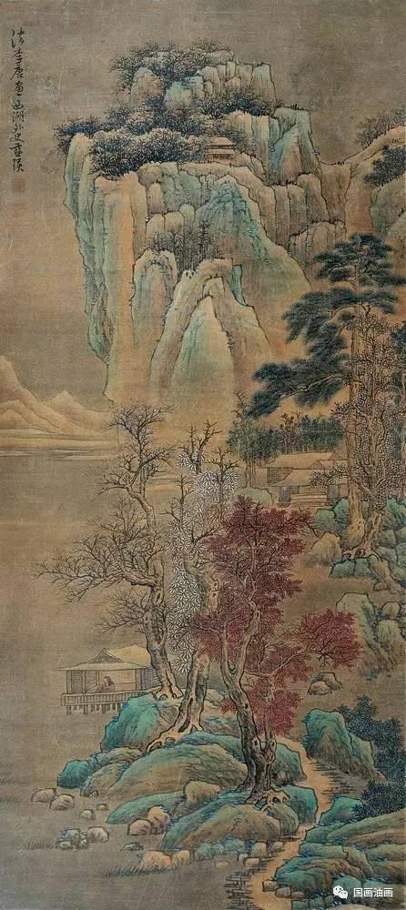 """明代国画""""武林派""""蓝瑛山水画:纵横奇古,风格秀润!图片"""