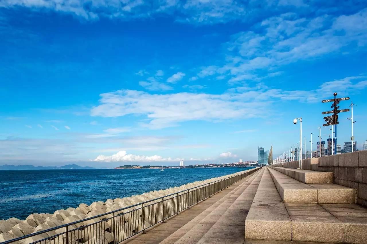 游玩青岛第一海水浴场,最美八大关,极地海洋世界,五四广场,营口路海鲜