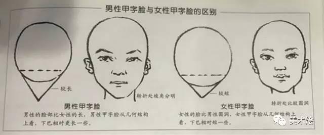 素描不同脸型的画法图片