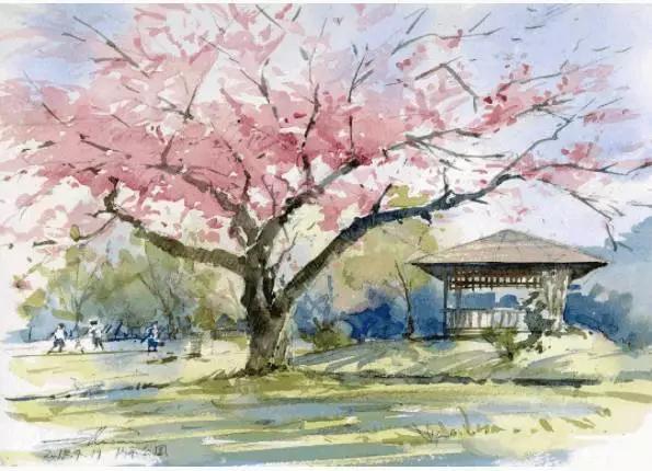 幾張水彩畫帶你游遍日本鄉村風景