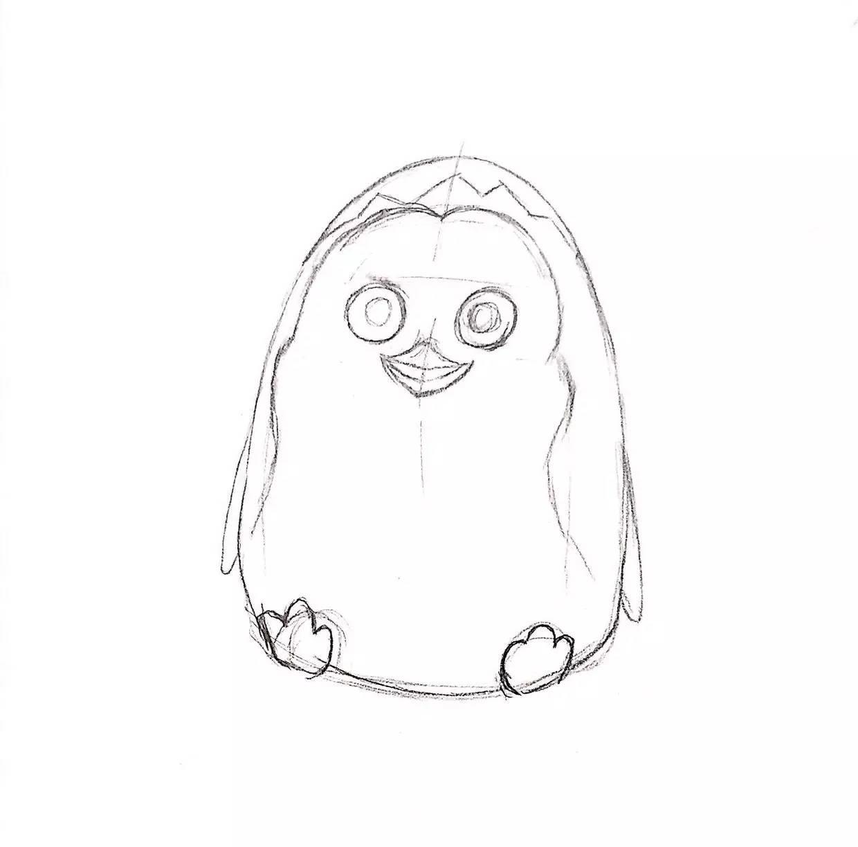 針管筆動物教程 | 用一支筆畫一只可愛小企鵝 (小進畫