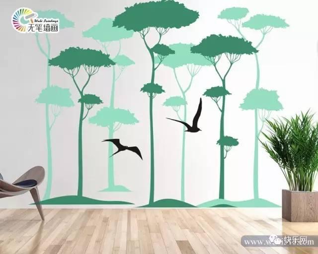 充满创意的手绘墙画制作出了属于每个家庭的私家风景.