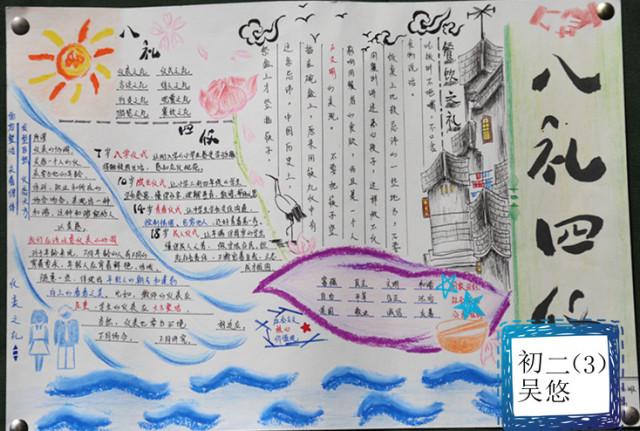 美观,并且每张手抄报都有一个鲜明的标题,充分展现了学生的综合能力.