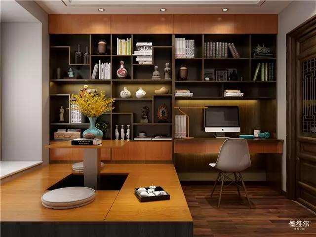榻榻米与开放式书柜一体化合设计, 让房间的功能瞬间丰富起来!图片