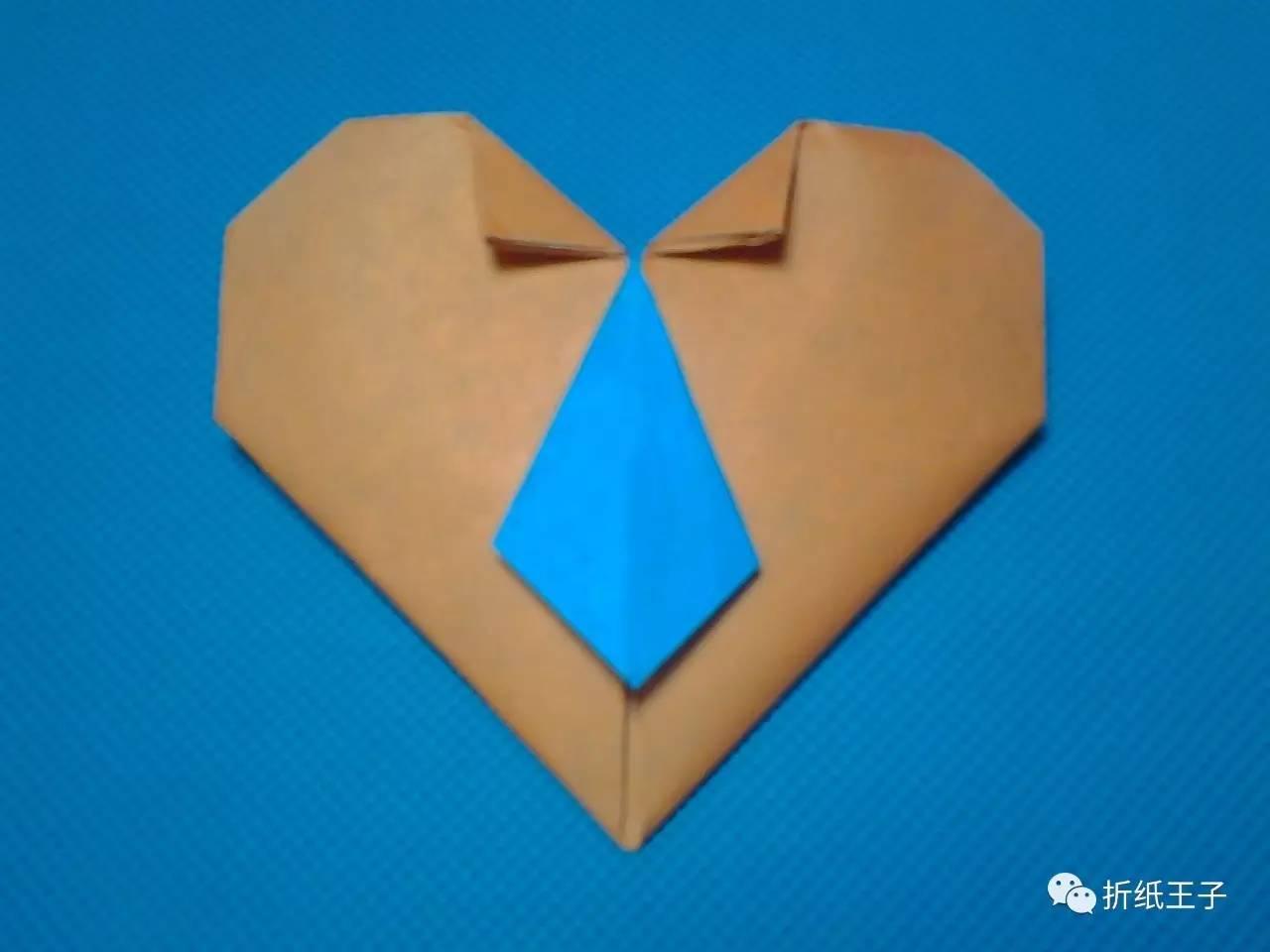 父亲节折纸礼物衬衫 领带爱心