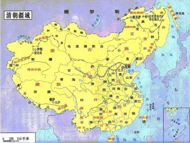 晚清中国地图手绘